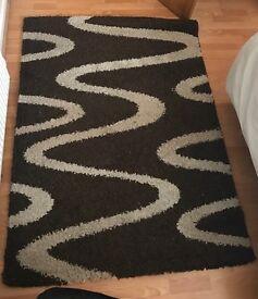 Brown large rug