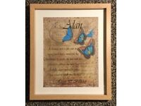 Unique & Personalised Wall/Table Art Piece in Frame for Every Special Occasion
