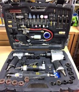 Ensemble 4x outils pneumatique et accessoires Stanley ***Ensemble Complet*** P013054