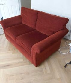 Comfortable Two Seater Red Sofa
