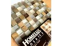Mosaic Tiles. Stone & Glass. One pack