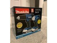 Makita 18V 1.5Ah Li-ion Cordless Combi drill & impact driver DK18015X2 BRAND NEW