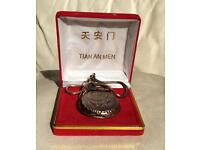 Ornate Bronze Pocket Watch Dragon Carving
