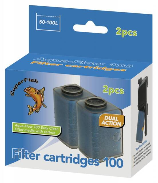 Superfish Aqua Flow 100 Easy Click Filter Cartridges - 2 Pack