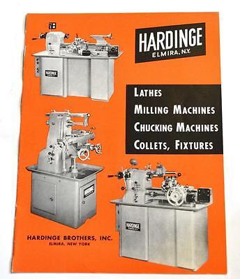 Hardinge 115622 Lathes Milling And Chucking Machines Brochure