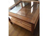 Habitat Oak Glass Coffee Table