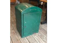 Royal Mail Green Metal Cabinet