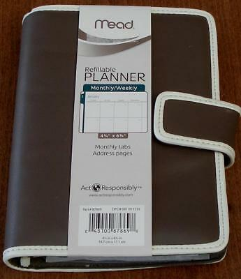 "Mead Refillable Monthly / Weekly Planner - 4 1/4"" x 6 3/4"" - VARIOUS - BRAND NEW"