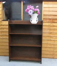 Wooden vintage style Book shelves racking storage shelf case FREE DELIVERY WITHIN LE3