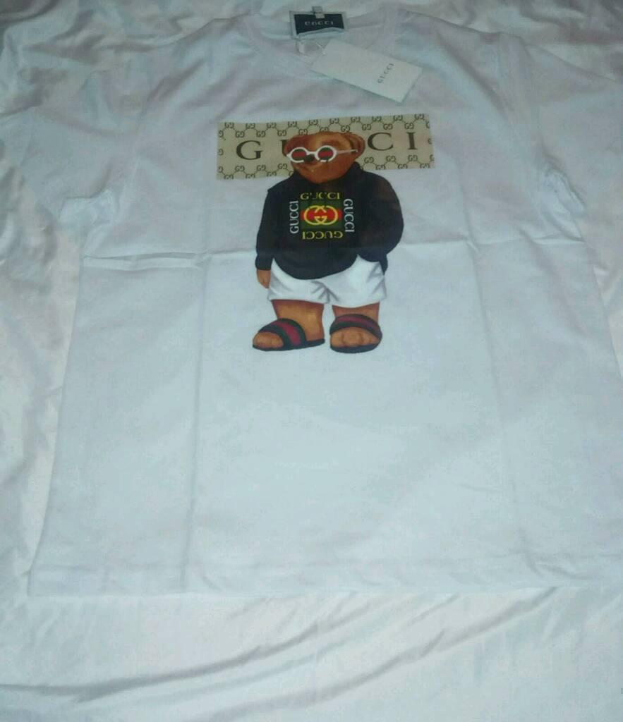 51698bc1ed Gucci Teddy Bear T-Shirt - WHITE | in Sutton, London | Gumtree