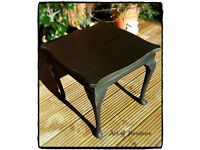 Coffee Table hand painted in Annie Sloan Graphite chalk paint Upcycled
