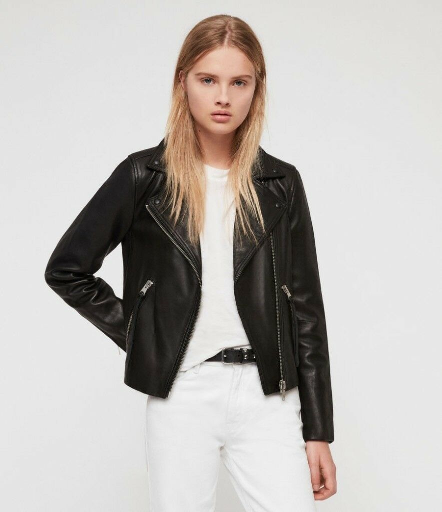enjoy best price best selling top-rated cheap All Saints Dalby leather biker jacket for sale, brand new size 8 uk | in  Ilford, London | Gumtree