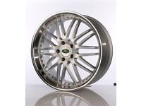 """VELOCE EXCLUSIVE DEEP DISH RANGE ROVER / X5 ALLOYS 22"""" WITH TYRES X 4"""