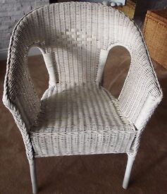 IKEA white, woven chair. As new.