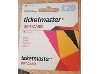 Ticketmaster £20 Gift Card - Valid Until 31st Oct 2017 - £10 ONO -For Music Gigs, Comedy, Sports etc