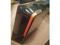 NZXT Phantom Full Tower PC Case - Black/Orange. FREE CD drive and 3 case fans