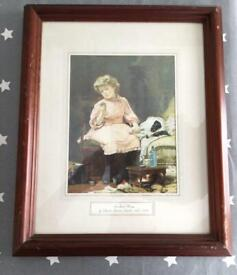 Framed Picture, ' Not Much Wrong' by Charles Burton Barber, 1845-1889.