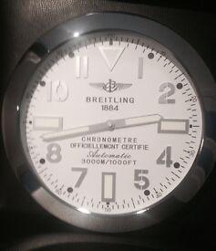Breitling wall clock, Hublot, Rolex wall clock, Large size clocks