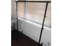 IKEA BLACK CLOTHES RAIL (May deliver)