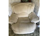 Sofa with 1 armchair and 1 recliner chair
