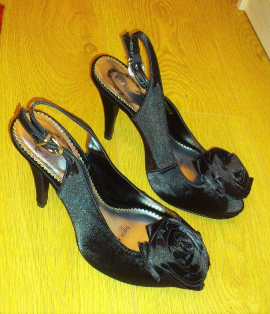 Black sandals debenhams - Debenhams Debut Black High Sandals Size4 New