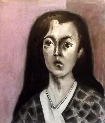 Large FRANCOIS CHAPUIS 1928-2002 Abstract CUBIST INFLUENCED Portrait