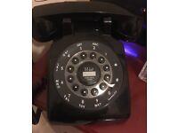 1970s style push button retro vintage type telephone