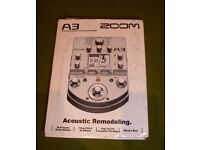 Zoom A3 acoustic modeller & multi-effects pedal brand new & never gigged