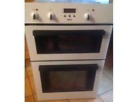 ZANUSSI Double built in oven in White