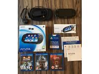perfect condition psvita and 3 games