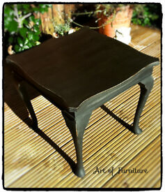 Coffee Table hand painted in Annie Sloan Graphite chalk paint.
