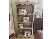 Grey Shabby Chic Bookcase