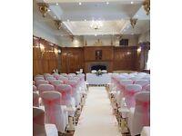 Venue Dressing & Florist, chair covers, Tablecloths, centerpieces, 4ft LOVE, blossom trees etc