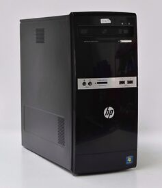 WINDOWS 7 HP 500B TOWER COMPUTER INTEL DUAL CORE 2.50 PC - 2GB RAM - 160GB HDD