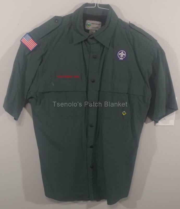 Venturing BSA Uniform Shirt Size Adult Small SS FREE SHIPPING 070