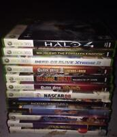 Xbox, Xbox 360, live and Kennect games for sale!!