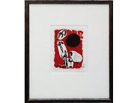 JOAN MIRO - hand signed lithograph - c1972 - Mourlot, Paris - framed (picture. print)