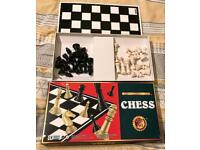 Boxed Chess Set By David Halsall Games. Complete & VGC. King 7cm Tall. 35 x 35cm