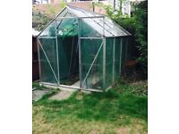Aluminuim & Glass Greenhouse 6x8