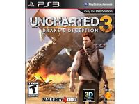 Uncharted 1,2 and 3 for ps3