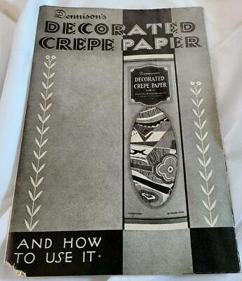 1920s Dennisons Decorated Crepe Paper and How to Use It - Vintage Color Images
