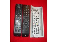 3 Universal Remote controls One for all Essance 2 Essance 4 and total control 4