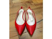 Karen Millen Red Leather Flat shoes