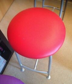 red metal stool for kitchen living room