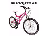 Pink 24'' muddyfox dazzle girls bike
