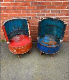 Oil barrel seats