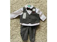 4 piece baby outfit 0-3months