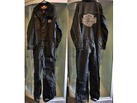 Harley Davidson One Piece Motorcycle Rain Suit PVC Very Nice!