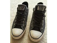 PAIR GENUINE CONVERSE ALL STARS TRAINERS SHOES SNEAKERS UK SIZE 6 SIX STAR GOOD CONDITION AUTHENTIC