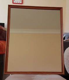 Slim Pine Framed Mirror